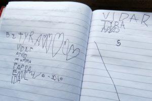 Tyra och Vidar skrev i gästboken