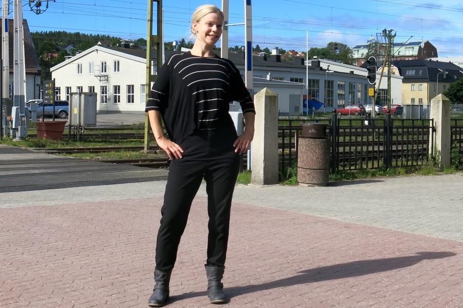 Byte från buss till tåg i Sundsvall