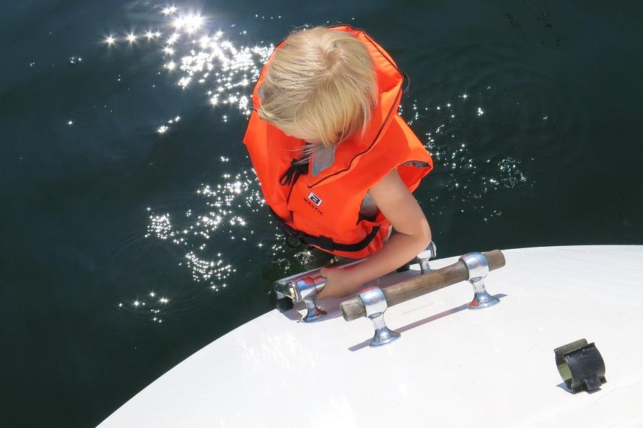 Bad från båten