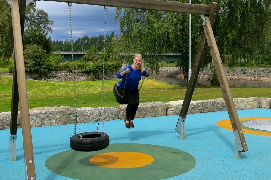 I nya lekparken i Sollefteå