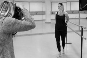 En dansant fotografering