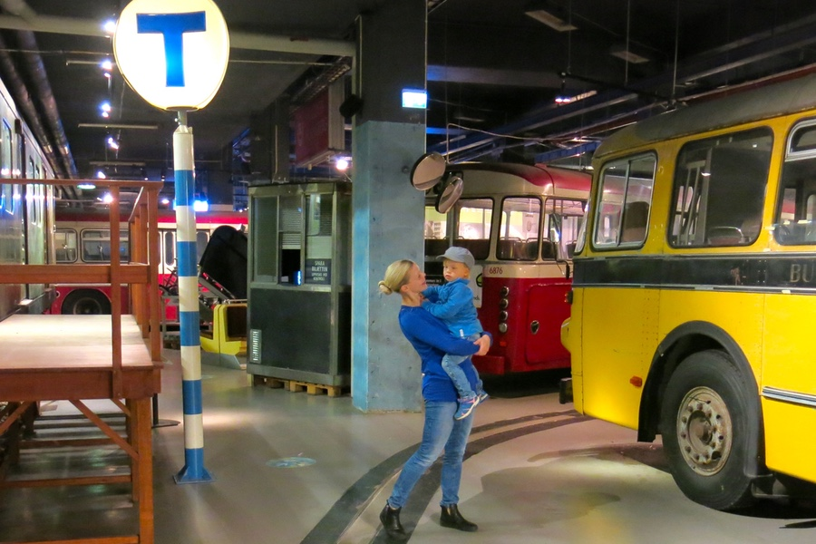 Jag och Arvid på Spårvägsmuseet