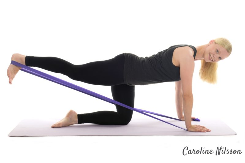Bra träning för rumpan med träningsgummiband