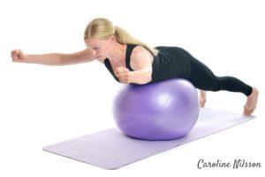 Rygglyft på träningsboll