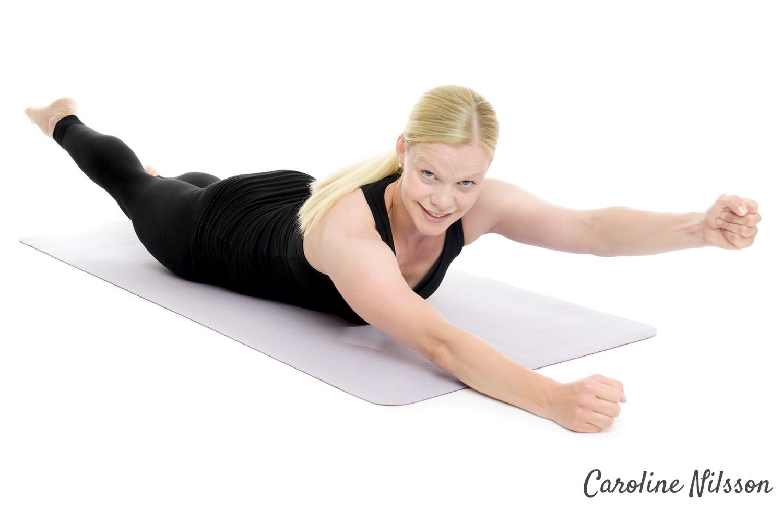 diagonala rygglyft är bra träning för ryggmusklerna