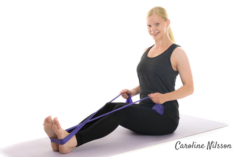 ryggträning med gummiband