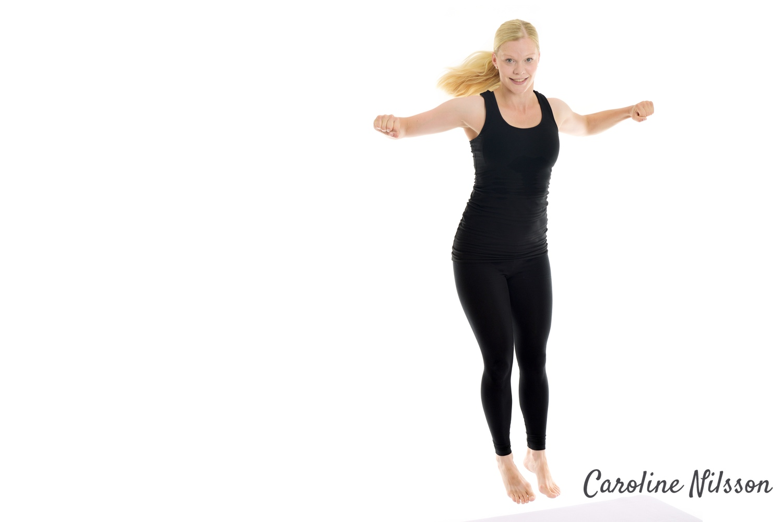 Hoppa i sidled för att träna kondition