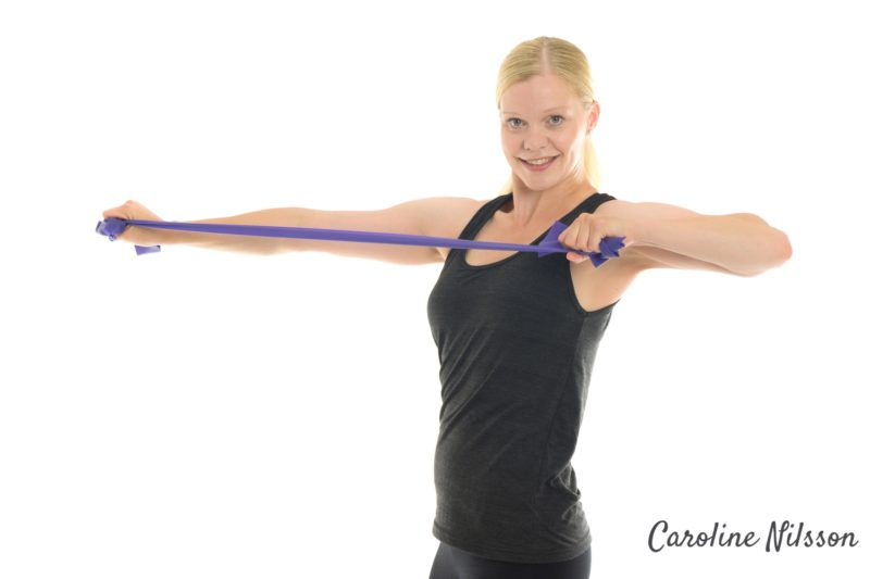 styrka för axlarna och rörelse för ryggraden