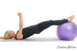 Omvänd planka på boll