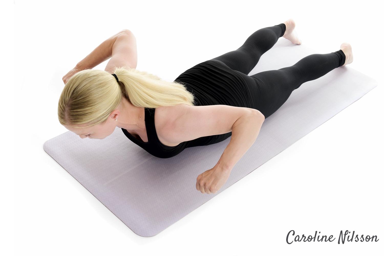 kroppsviktsträning rygg med rodd