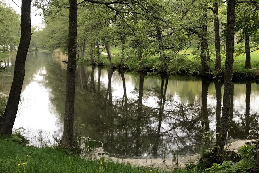 Utsikt Åkersberga kanal.