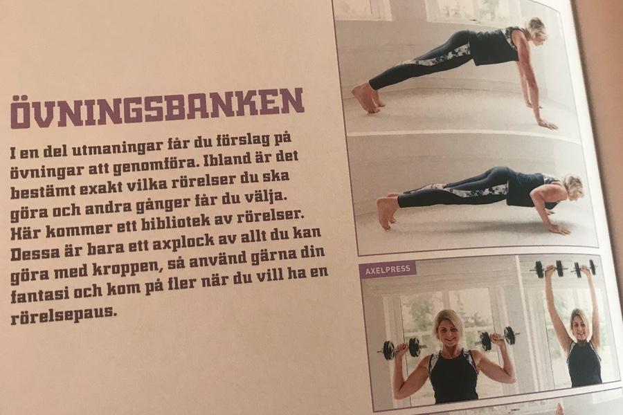 Anna Lissjanis visar övningarna.